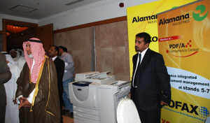 """""""PDF/A for Long Term Electronic Archiving"""" was presented by Anees Abdul Rahiman and Beaman Esstasi and """"Simplified Document Capture Solutions"""" were presented by Mohamed ElBahrawi. Both presentations were well received and drove delegates to the Xerox Stand for demonstrations and discussions on the subject."""