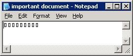 important document