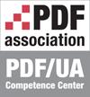 PDF/UA Competence Center logo.