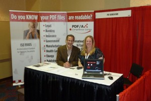 PDF Association booth staff at LegalTech NY 2012