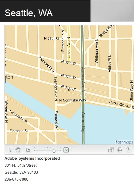 Adobe Seattle Offices Map