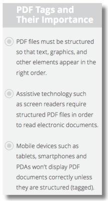 PDF Tags