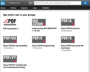 PDF Association LinkedIn Groups