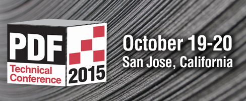 PDF Technical Conference 2015 October 19-20 San Jose, California