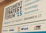 Document Strategy Forum billboard