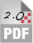 PDF 2.0 icon (stylized)