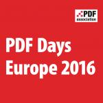 PDF Days Europe 2016