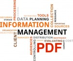 Information management word cloud