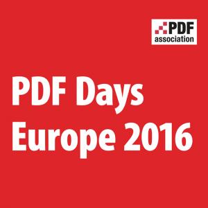 pdf days europe pdf association